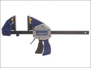 A stock photo of the Irwin Extreme Pressure One Handed Clamp