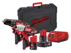M12 BPP2B Compact Twin Pack 12 Volt 1 x 4.0Ah & 1 x 2.0Ah Li-Ion