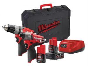 M12 CPP2C-422C Fuel™ Twin Pack 12 Volt 1 x 4.0Ah/1 x 2.0Ah Li-Ion