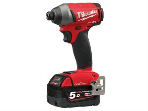 M18 ONEID-502X Fuel™ ONE-KEY™ 1/4in Hex Impact Driver 18 Volt 2 x 5.0Ah Li-Ion