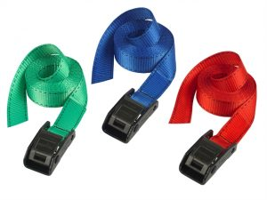 Lashing Straps with Metal Buckle Coloured 5m 150kg 2 Piece
