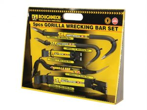 Gorilla Wrecking Bar Set (In Display Box) 5 Piece
