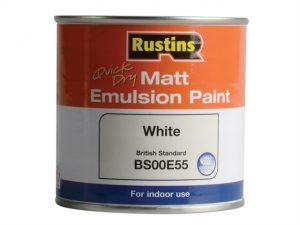Quick Dry Matt Emulsion Paint White 250ml