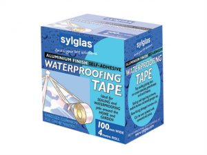 Aluminium Finish Waterproofing Tape 100mm/4in 4m Roll