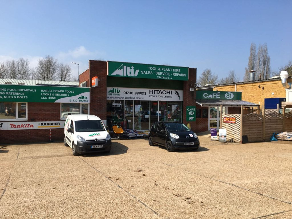 A photo of Altis Industries Ltd tool hire and plant hire shop on the Bedford Road, Petersfield