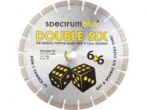 Spectrum DCX115/22 Double Six Diamond Blade 115mm x 22mm bore