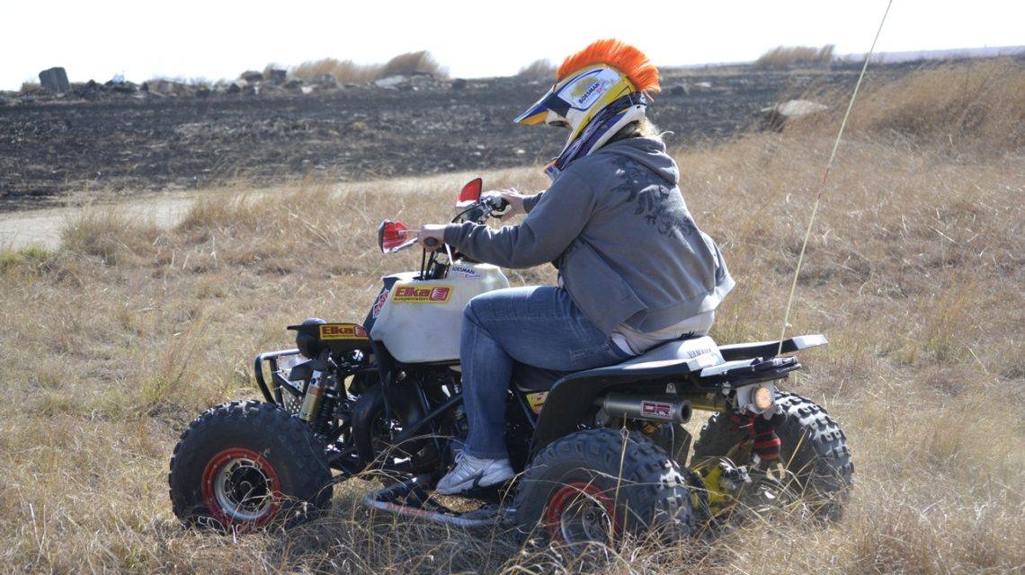 A picture of a quad bike, similar to a stomp bike