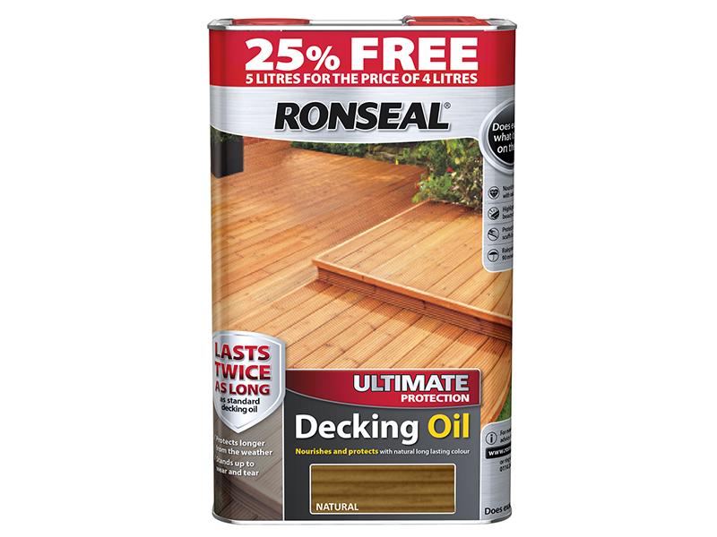 Ultimate Protection Decking Oil Natural 4 Litre + 25% RSLUDON4LAV
